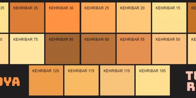 Filli Boya Turuncu Renk Kartelası & Tonları ve İsimleri