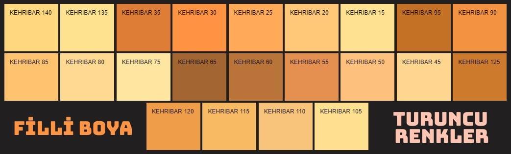 Filli Boya turuncu renkler