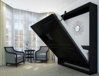 Siyah duvar yatak modeli