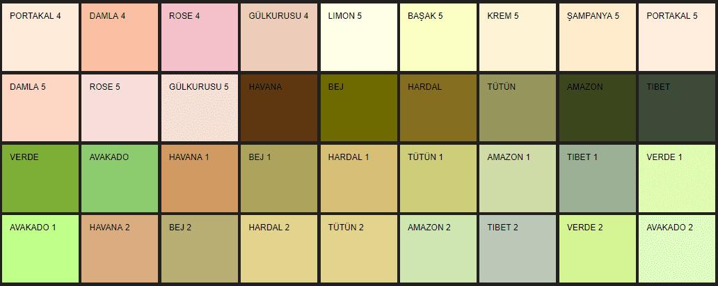 Filli Boya Alpina Renklendirme Sistemi ARS renk kataloğu