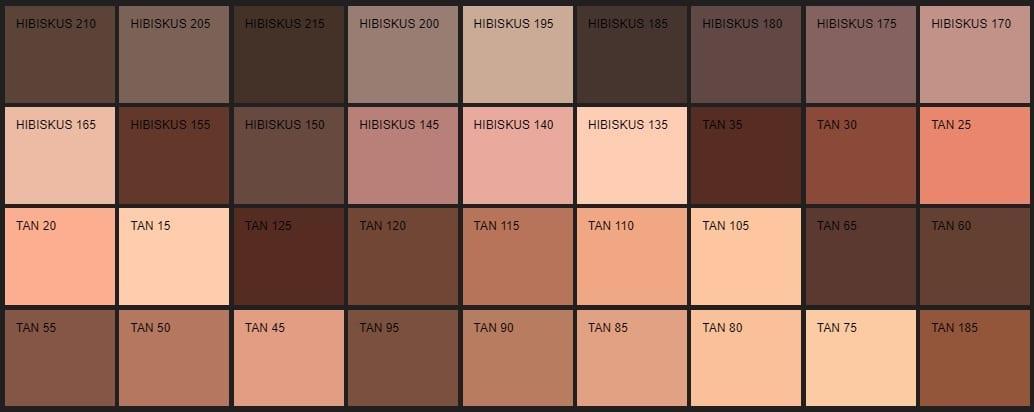 Filli Boya kahverengi renk kartelası