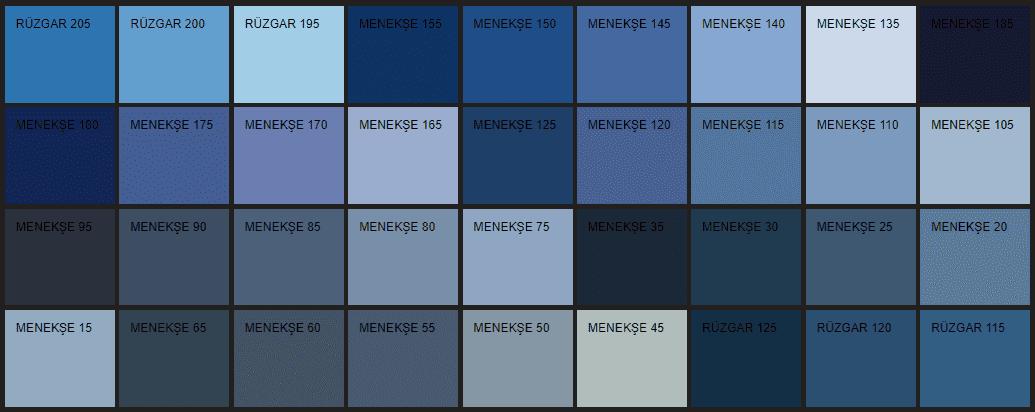 Filli Boya mavi duvar rengi