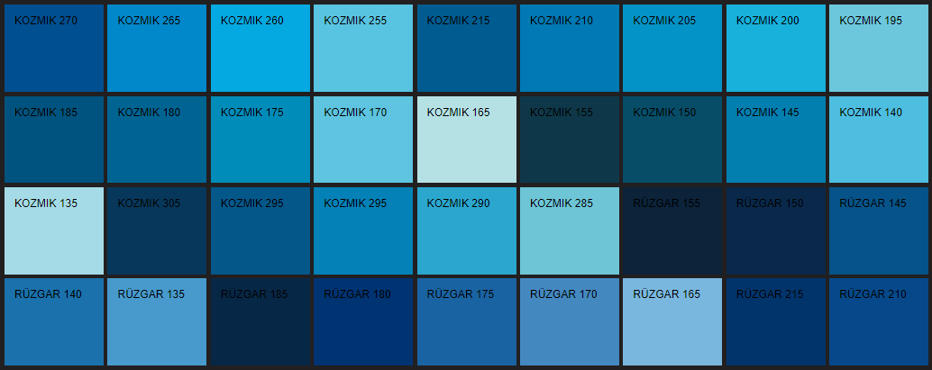 Filli Boya mavi renk tonları ve isimleri