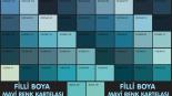 Filli Boya Mavi Renk Kartelası & Tonları ve İsimleri