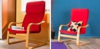 Kırmızı renk rahat sallanan koltuk modeli