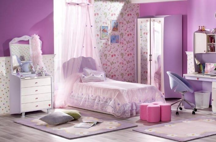 Çilek Genç Odaları : Mor Renk