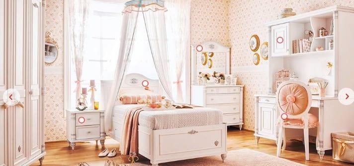Çilek Genç Odası : Romantic Çekirdek Oda