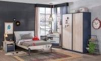 Çilek Mobilya Trio serisi genç odası