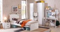Çilek Mobilya White serisi genç odası