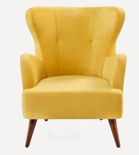 Sarı renk konforlu berjer koltuklar