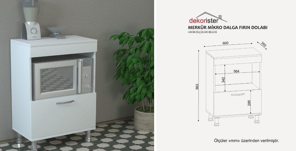 Koçtaş Çok Amaçlı Mutfak Dolabı Modelleri: Dekorister Merkür