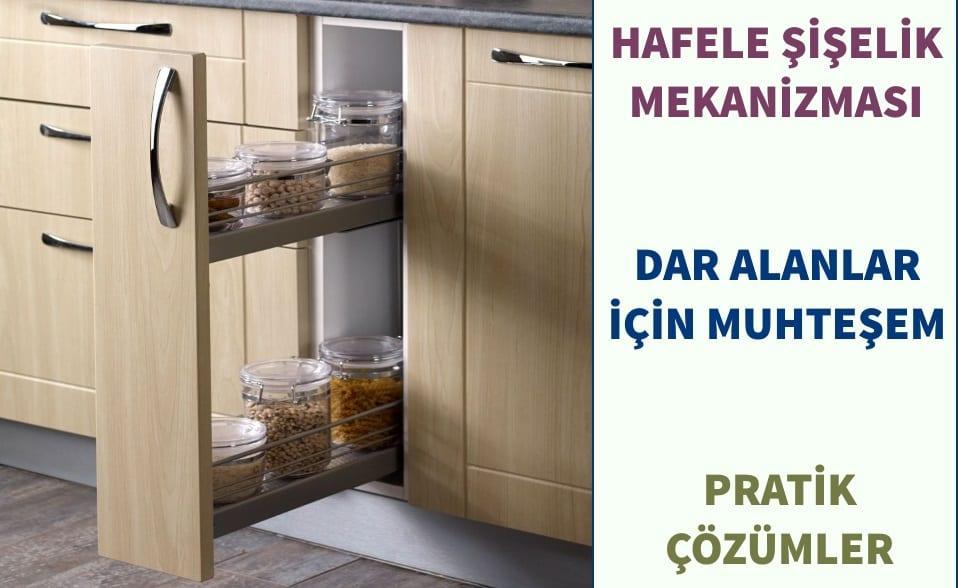Koçtaş Çok Amaçlı Mutfak Dolabı Modelleri: Hafele Şişelik Mekanizması