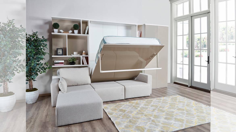 duvara monte çift kişilik yatak
