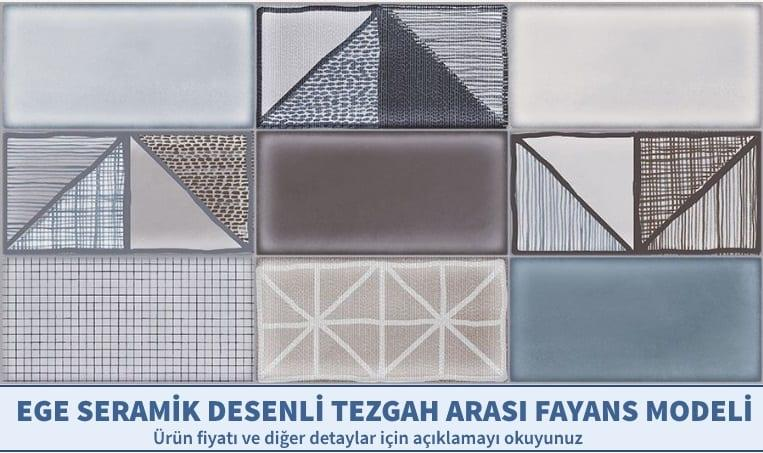 Geometrik Desenli Tezgah Arası Fayans Modelleri