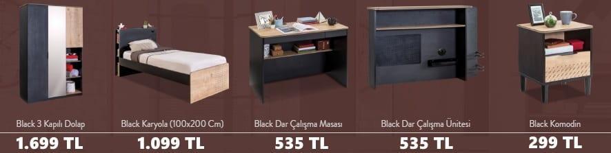 Çilek Genç Odası Black Serisi Fiyatları
