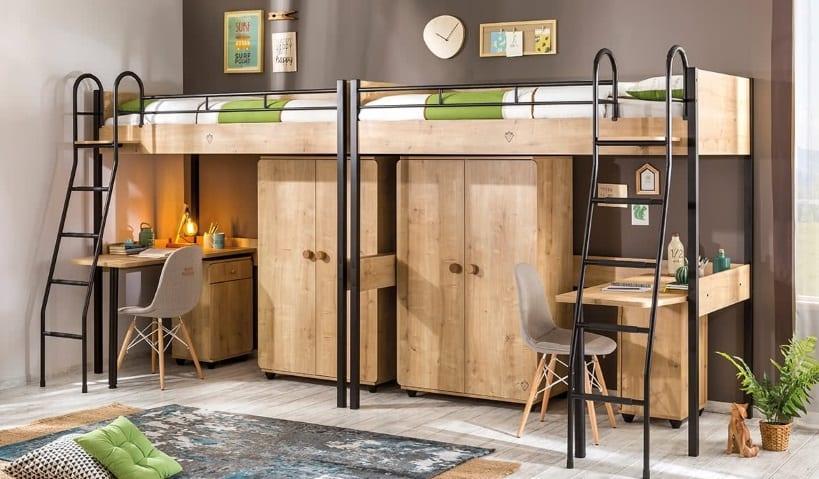 Çilek Genç Odası Compact Serisi : İkizler veya İki Çocuk İçin Çift Takım