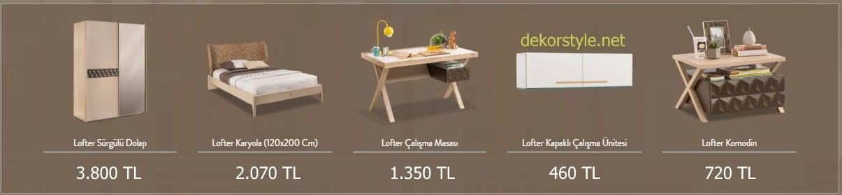 Çilek Genç Odası Lofter Serisi Fiyatları