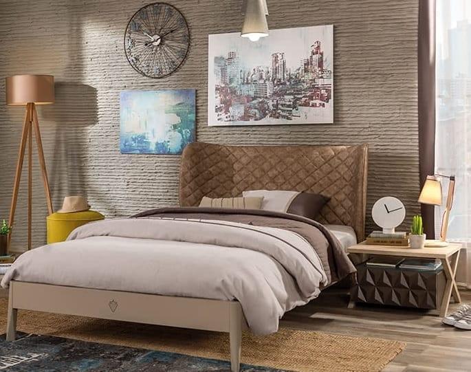 Çilek Genç Odası Lofter Serisi : Karyola Modeli