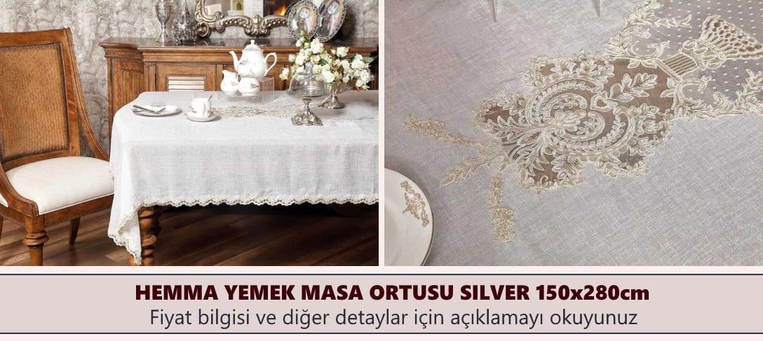 Hemma Yemek Masa Örtüsü Modelleri Silver