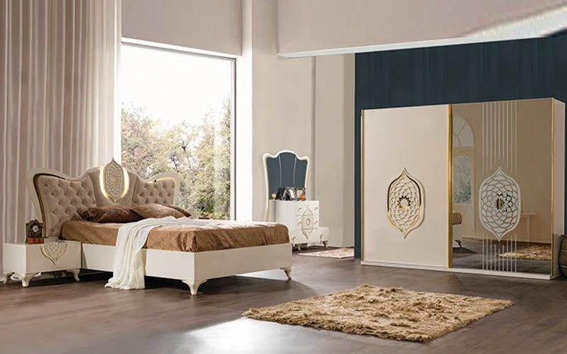 pudra pembesi yatak odası