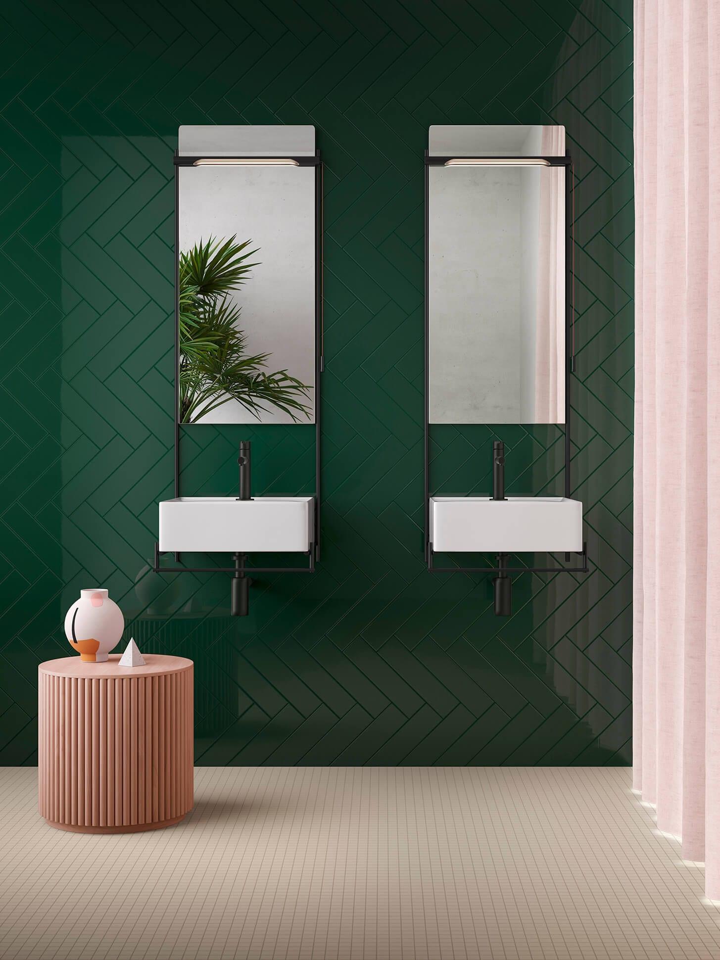Banyo Seramik Modelleri - Yeşil Seramik